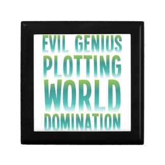 EVIL GENIUS PLOTTING WORLD DOMINATION SMALL SQUARE GIFT BOX
