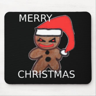 Evil Gingerbread boy Mouse Pad
