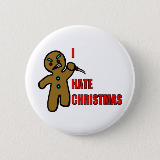 Evil Gingerbread Man 6 Cm Round Badge