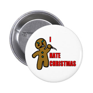Evil Gingerbread Man 6 Cm Round Badge