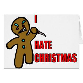 Evil Gingerbread Man Greeting Card