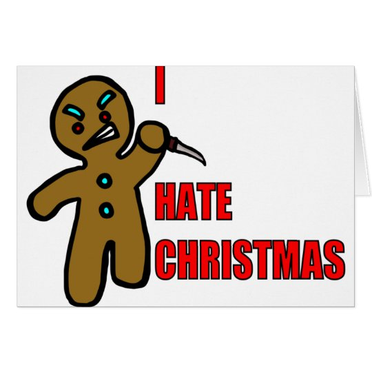 Evil Gingerbread Man Card