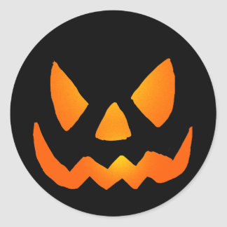Evil Glowing Jackolantern Face Sticker