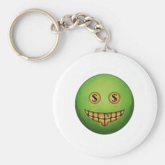 Evil Grin Basic Round Button Key Ring