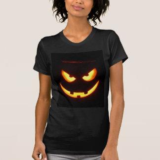 Evil grinning Halloween Pumpkin Face Tee Shirts