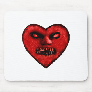 Evil Heart Shape Dark Monster Mousepad
