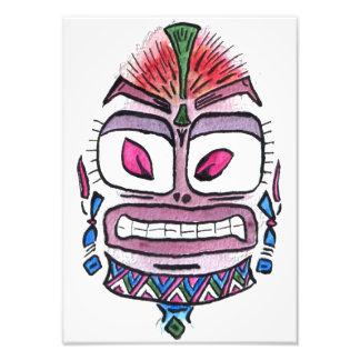 Evil Idol - tribal watercolor caricature Photograph
