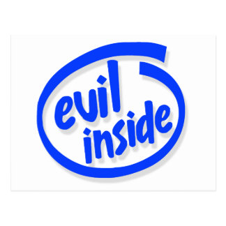 Evil inside post card