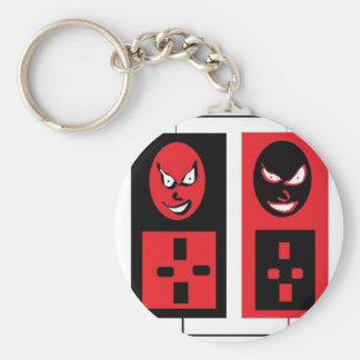 evil ipods basic round button key ring