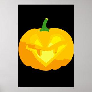 Evil Jack-O-'Lantern Poster