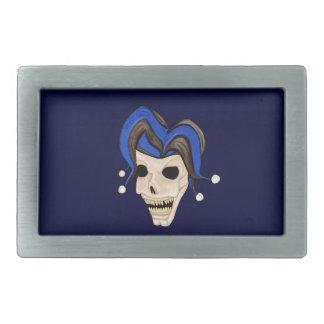 Evil Jester Skull Rectangular Belt Buckles