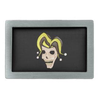 Evil Jester Skull (Yellow) Belt Buckle