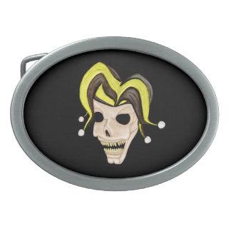 Evil Jester Skull (Yellow) Belt Buckles