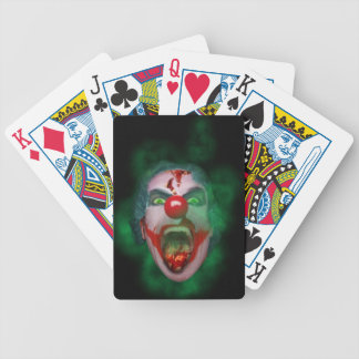 Evil Joker Clown Face Bicycle Playing Cards