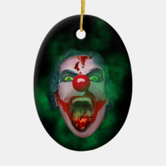 Evil Joker Clown Face Ceramic Oval Decoration