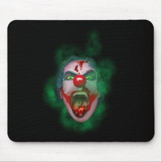 Evil Joker Clown Face Mouse Mat