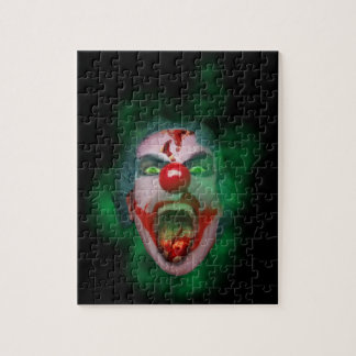 Evil Joker Clown Face Puzzle