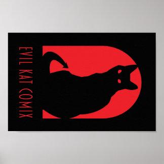 Evil Kat Comix Logo- Poster