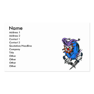 evil killing clown business card template