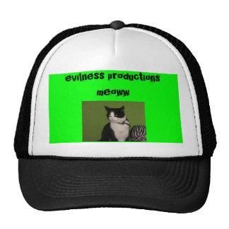 evil kitty mesh hats