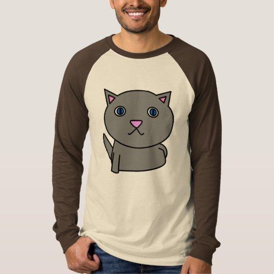 evil kitty surprise - grey T-Shirt
