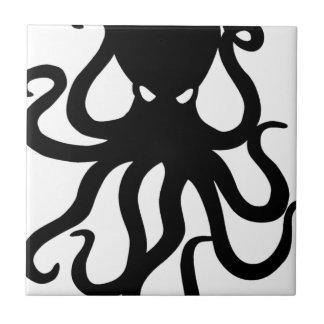 Evil kraken small square tile