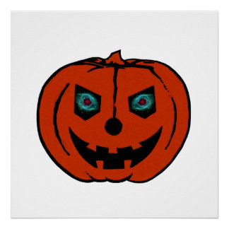 EVIL LANTERN (Halloween Jack-O-Lantern) ~ Poster