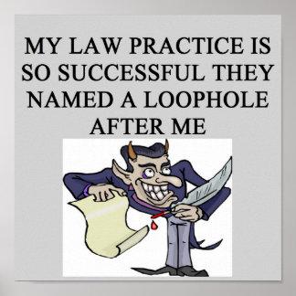 evil lawyer poster