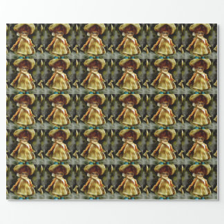 evil little dora wrapping paper