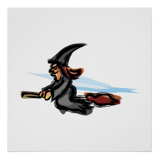 Evil little witch print