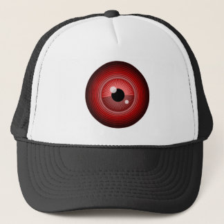 Evil magic red eye of the devil trucker hat