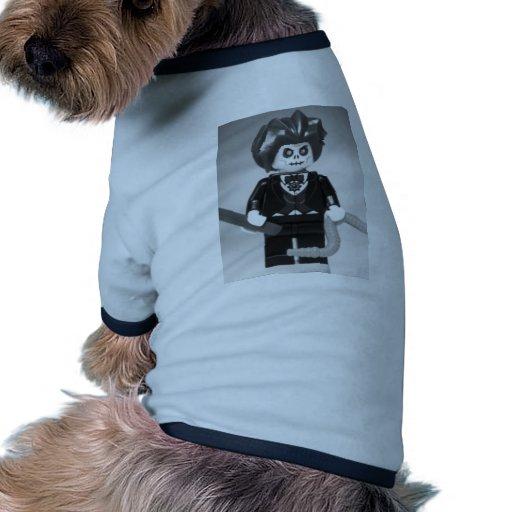 Evil Magician Custom Minifigure with Magic Wand Dog Shirt