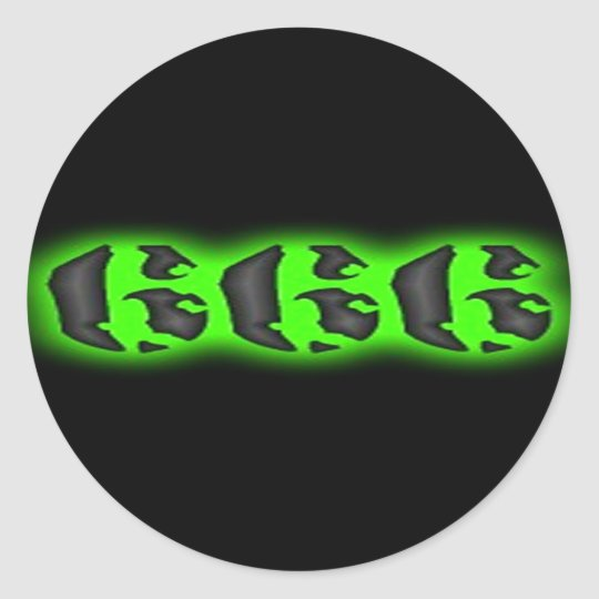 Evil Mark of the Beast | Halloween 666 Classic Round Sticker