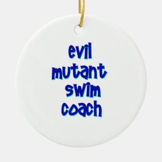 Evil Mutant Swim Coach Christmas Ornament