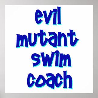 Evil Mutant Swim Coach Posters