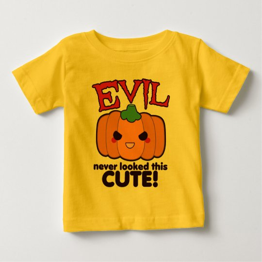 Evil Never Looked This Cute! Pumpkin Baby T-Shirt