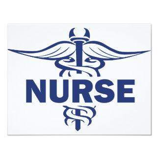 evil nurse 11 cm x 14 cm invitation card