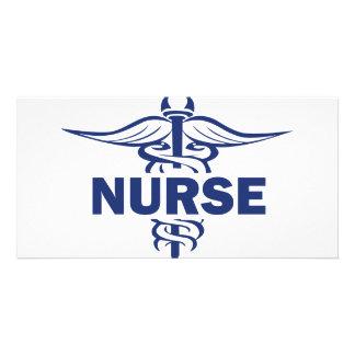 evil nurse photo card template