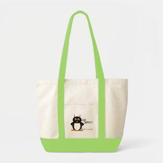 Evil Penguin Go Away! Impulse Tote Bag