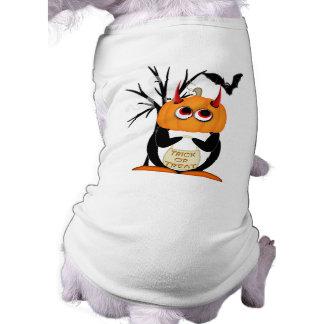 Evil Penguin Halloween Dog Shirt