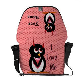 Evil Penguin - I Love Me Courier Bag