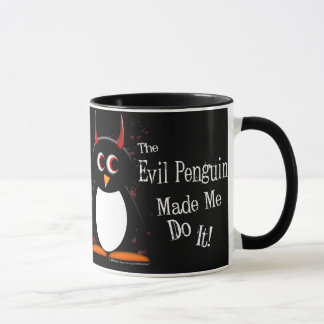 Evil Penguin Made Me Dark Mug