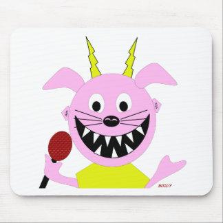 Evil Pig Blues Folk Art Design Mouse Pad