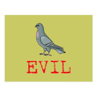 Evil Pigeon Postcard