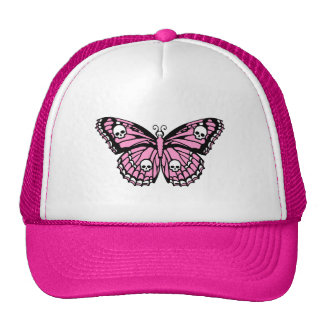 Evil Pink Butterfly Mesh Hat