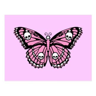 Evil Pink Butterfly Postcard