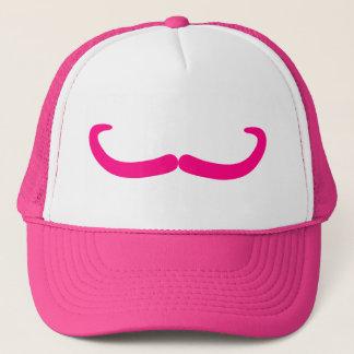 Evil Pink Mustache Trucker Hat