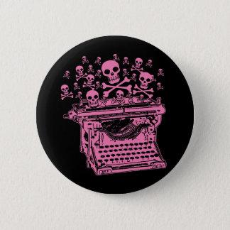 Evil Pink Typewriter 6 Cm Round Badge