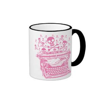 Evil Pink Typewriter Mugs