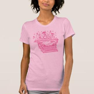 Evil Pink Typewriter T-Shirt